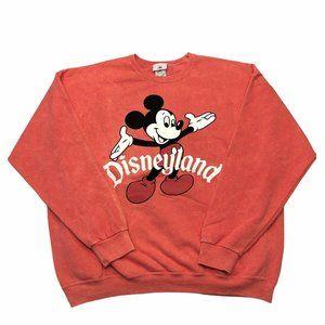 Disneyland Mickey Pullover Sweatshirt Red Retro